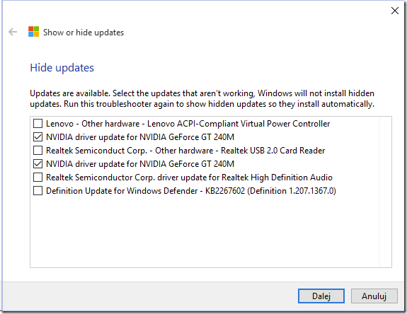 Preventing a certain Windows Update from installing on Windows 10